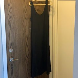 J Crew Silk Black Maxi Dress